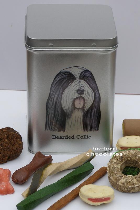 Bearded kolie - doza s pamlsky pro psy 30 ks pamlsků