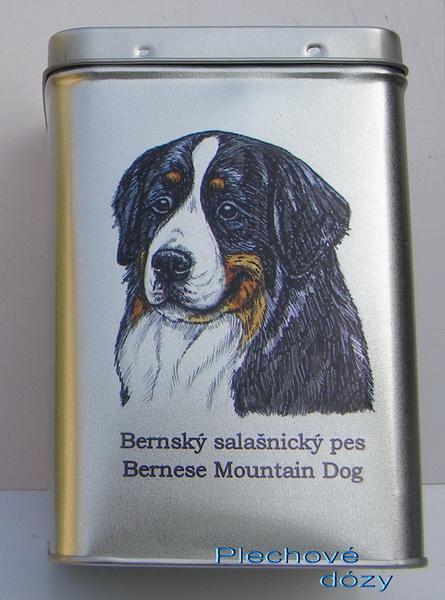 Bernský salašnický pes - dóza s pamlsky pro psy 30 kusů pamlsků