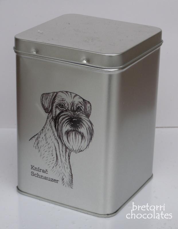 Knírač - dóza s pamlsky pro psy 30 kusů pamlsků