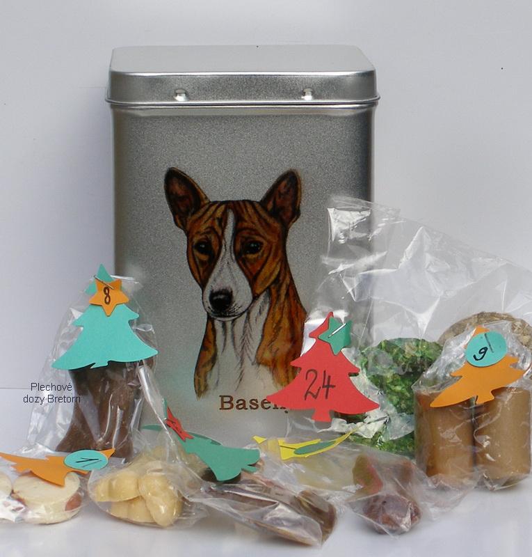 Basenji - adventní kalendář pro psy 45 pamlsků / 360 g