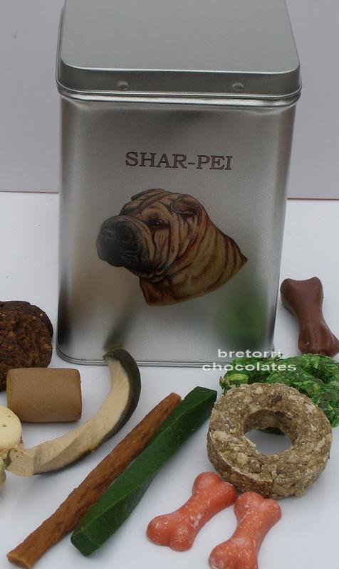 Šarpej - dóza s pamlsky pro psy 30 ks pamlsků