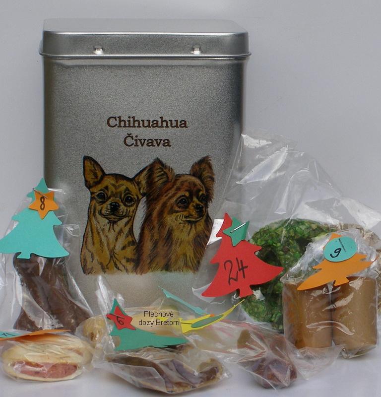 Čivavy - adventní kalendář pro psy 45 pamlsků / 360 g