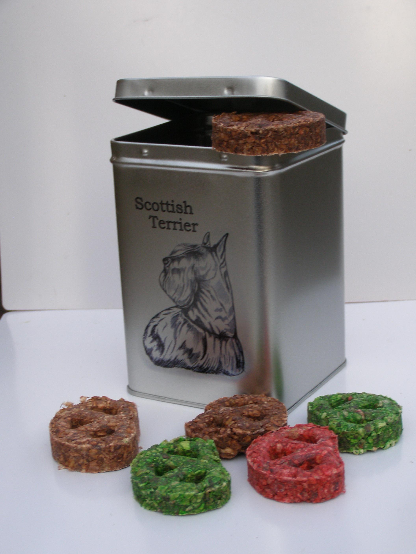 Skotský terier - dóza s pamlsky pro psy 30 pamlsků