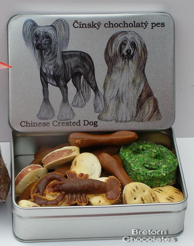 Čínský chocholatý pes - dóza s pamlsky pro psy 30 pamlsků