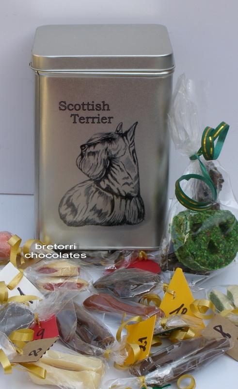 Skotský teriér - adventní kalendář pro psy 45 pamlsků / 360 g