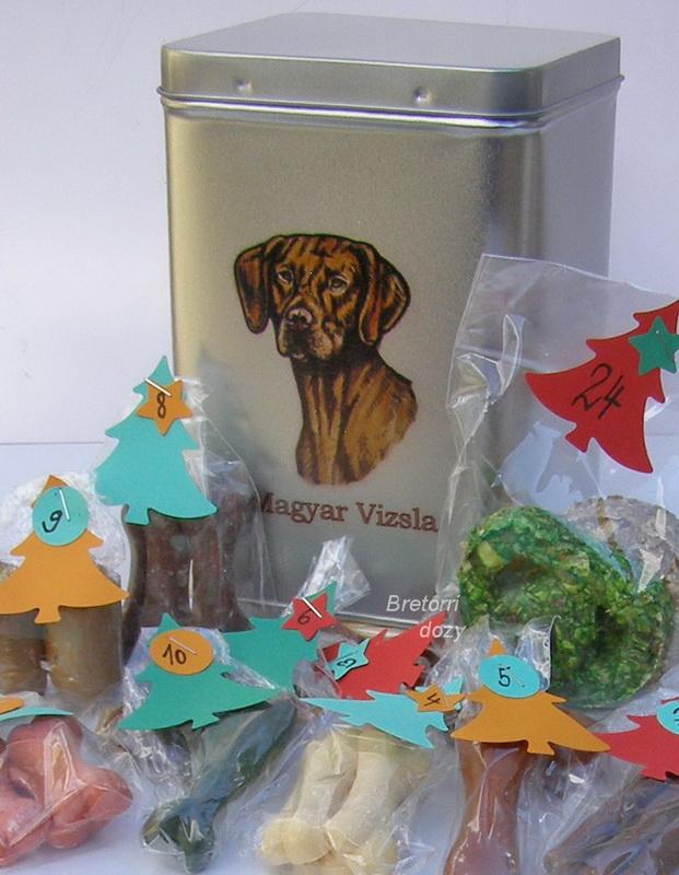 Maďarský ohař - adventní kalendář pro psy 45 pamlsků / 360 g
