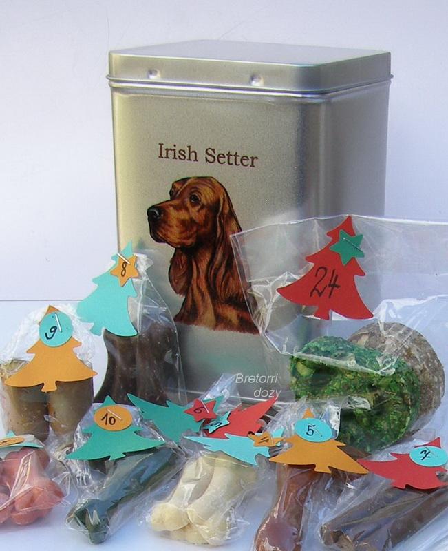 Irský setr - adventní kalendář pro psy 45 pamlsků / 360 g