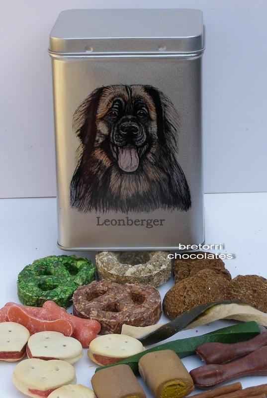 Leonberger - dóza s pamlsky pro psy 30 kusů pamlsků