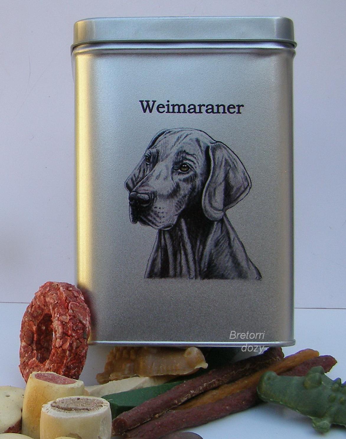 Výmarský ohař - dóza s pamlsky pro psy 30 pamlsků