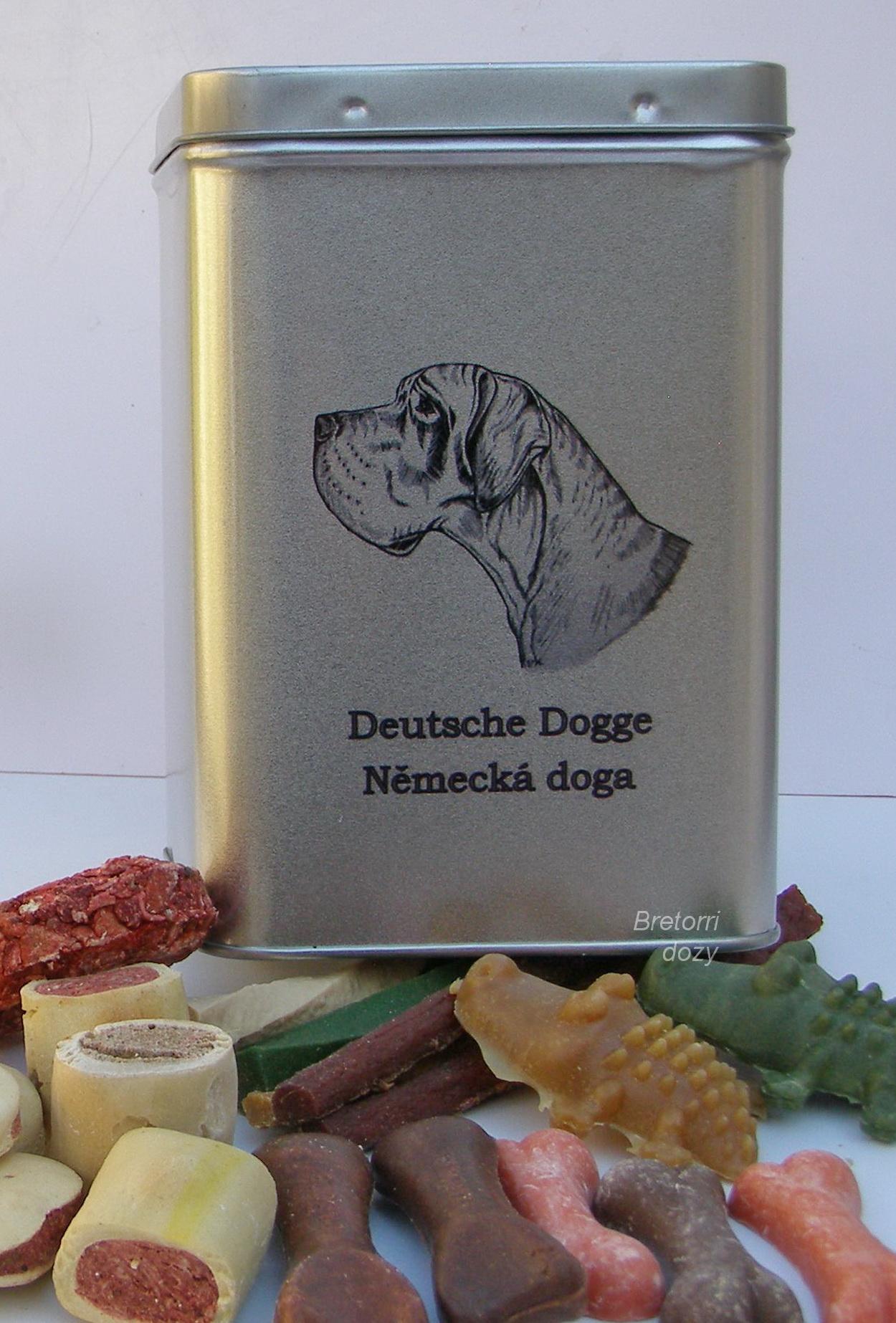 Německá doga - dóza s pamlsky pro psy 30 pamlsků