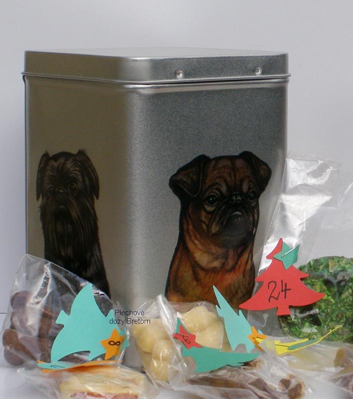 Grifonci - adventní kalendář pro psy 45 pamlsků / 360 g