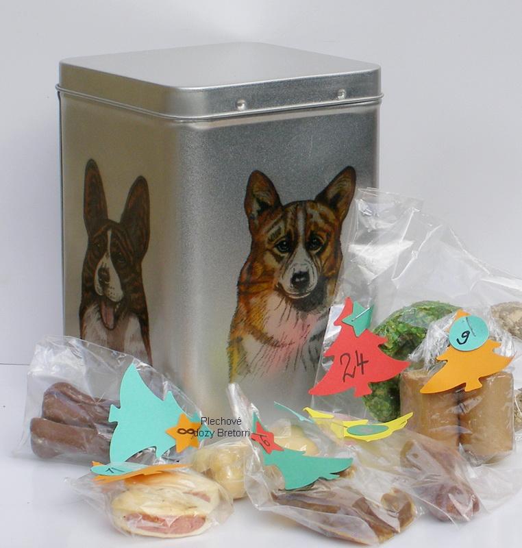 Welshcorgi - adventní kalendář pro psy 45 pamlsků / 360 g