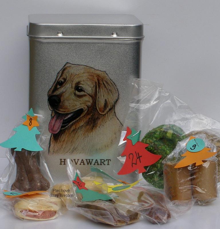 Hovawart - adventní kalendář pro psy 33 kusů pamlsků / 550 g