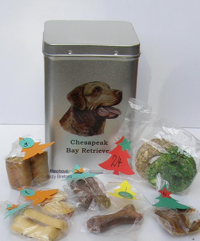 Chesapeake - adventní kalendář pro psy 45 pamlsků / 360 g